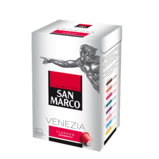 Capsule café Sans Marco (100 % arabica torréfié en France) saveur Venezia