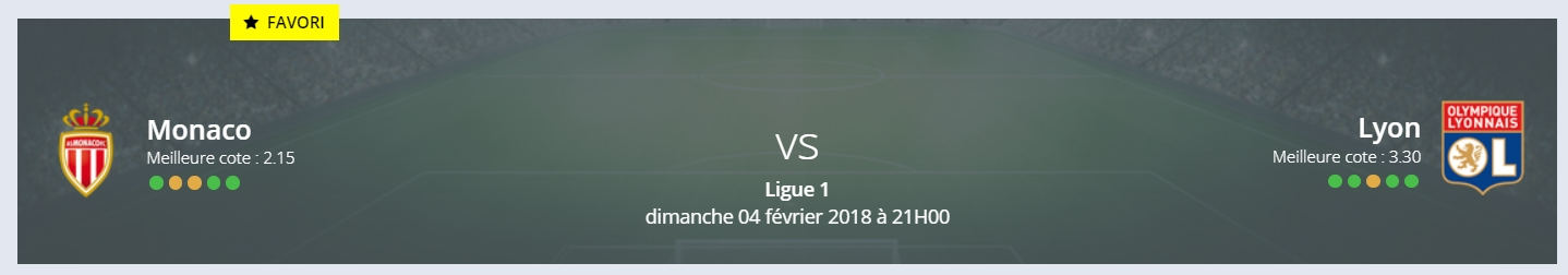 Le pronostic Monaco Lyon de RDJ donne la victoire aux Lyonnais. Et vous?